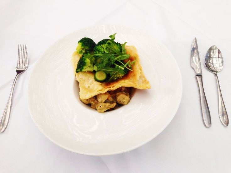 R 85.00 or ± $8.50 Deconstructed Chicken Pie Chicken Pie topped with crispy puff pastry served with green vegetables. To stay at The Hyde Hotel contact us below on the email. phone click the photo 13 London Road Sea Point 8001 Cape Town, Western Cape Always open Phone021 434 0205 Emailreception@thehydehotel.com #Recipe #Healthy #Foodie #Recipes #Cooking  #Nutrition  #Health  #Chicken #Pie #Chickenpie #Crust #Pastry #Vegetables #PuffPastry #Puff #deconstructed