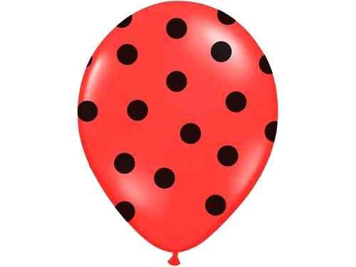 Polkadots rood met zwarte stippen ballonnen @Hieppp