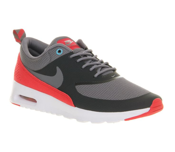 Nike Air Max Thea Femmes Runnning Chaussures Anthracite/Gris Frais/Légende  Rouge,HOT