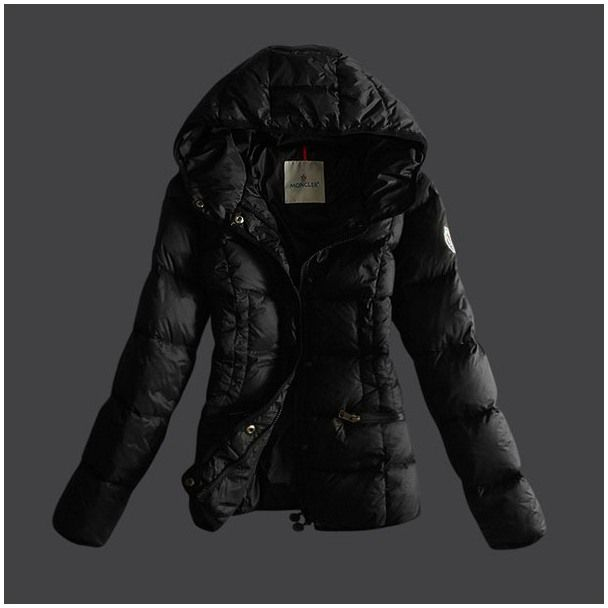 Buy Black Moncler Classic Down Jacket for Women