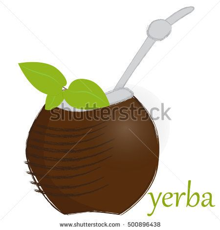 vector illustration of calabash yerba mate