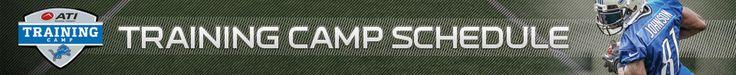Detroit Lions | 2014 Training Camp Schedule