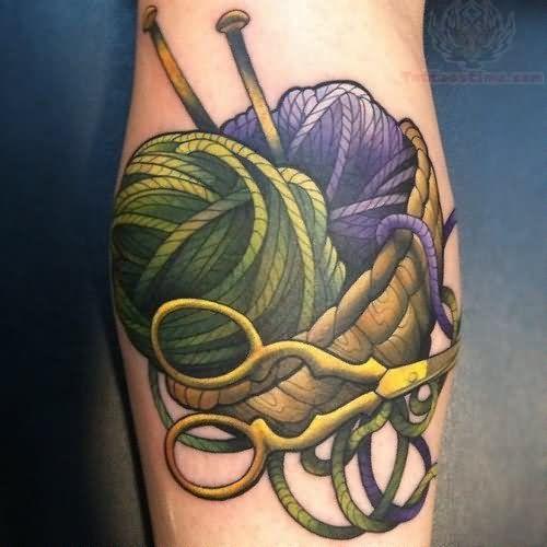 Colorful Yarn Tattoos