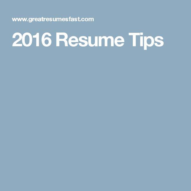 2016 Resume Tips