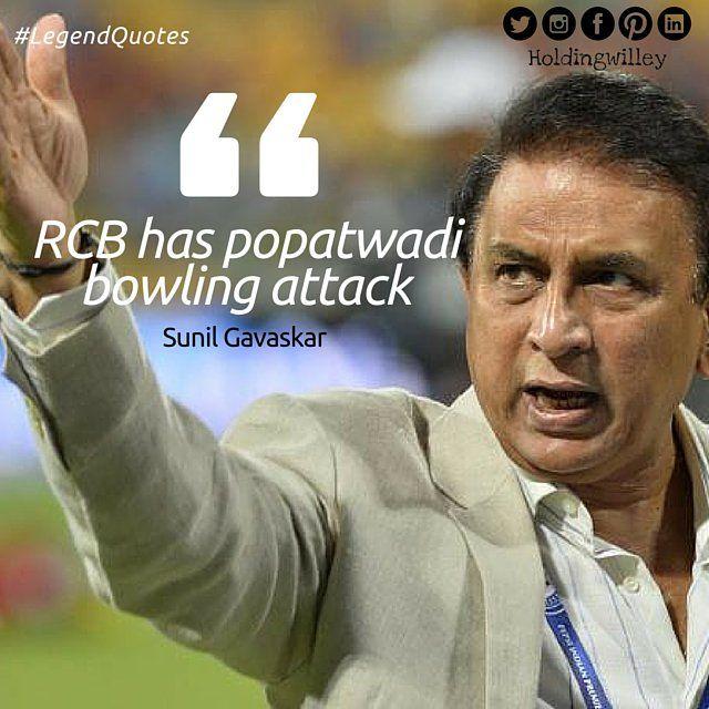 No one can trust what Sunil Gavaskar says anymore. #Cricket #Quotes #LegendQuotes #IPL #IPL2016 #RCB
