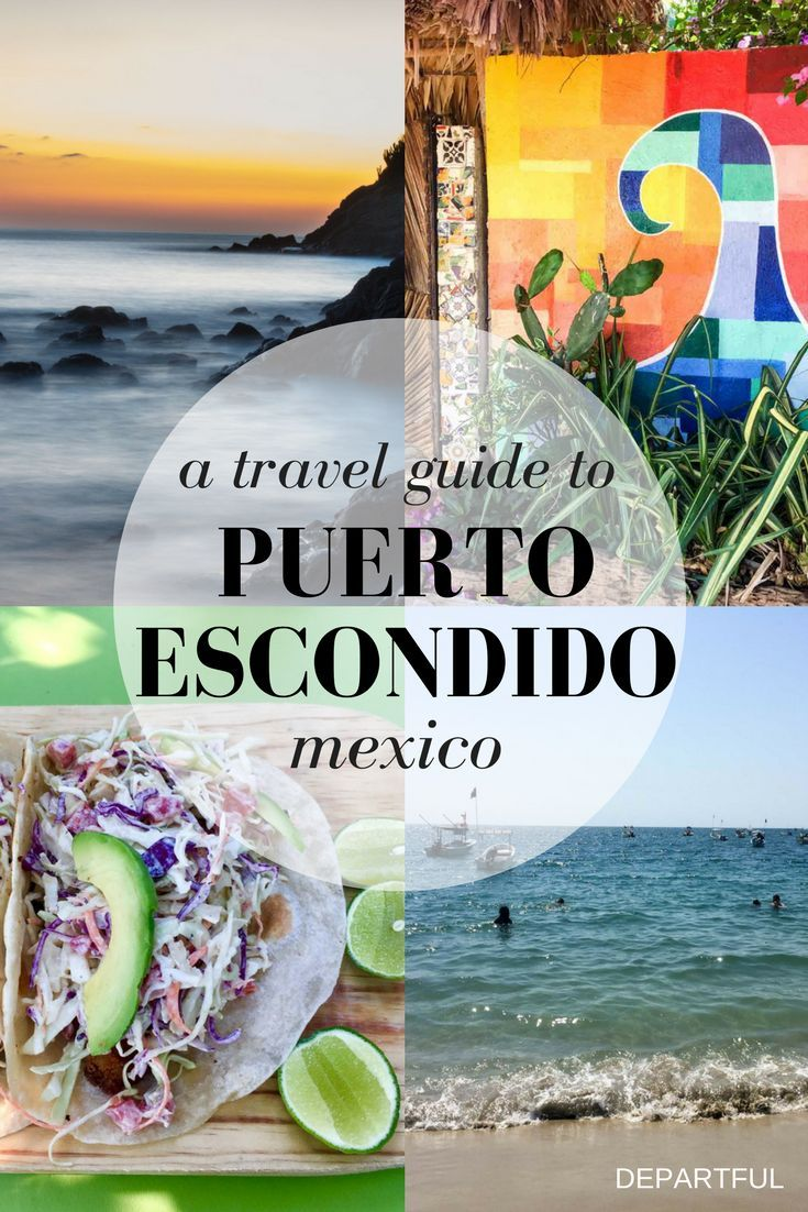 A travel guide to Puerto Escondido, one of a handful of popular beach-y towns on the Oaxacan Coast. Once a sleepy fishing village, Puerto Escondido began attracting surfers to its gigantic waves in the 70s and travellers have followed ever since. #mexico #beach #travelblog