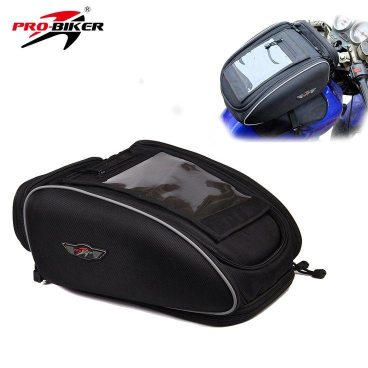 Cheap price US $48.21  PRO-BIKER Motorcycle Bag Mochila Maletas Motorbike Black Bolso Motocicleta Magnetic Oil Fuel Tank Bags Motos Waterproof Luggage
