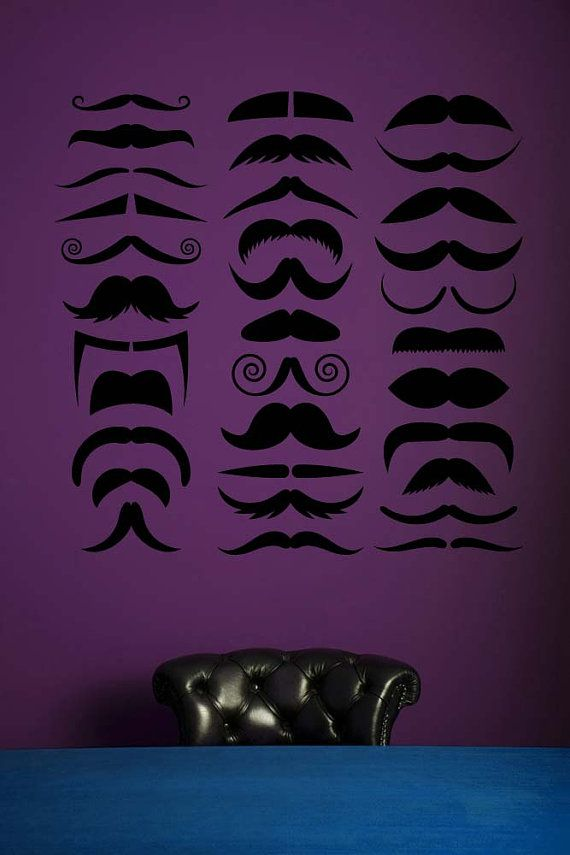Mustache Baby Shower Decorations, Mustache Party, Vinyl Wall Art, Vinyl Decal…