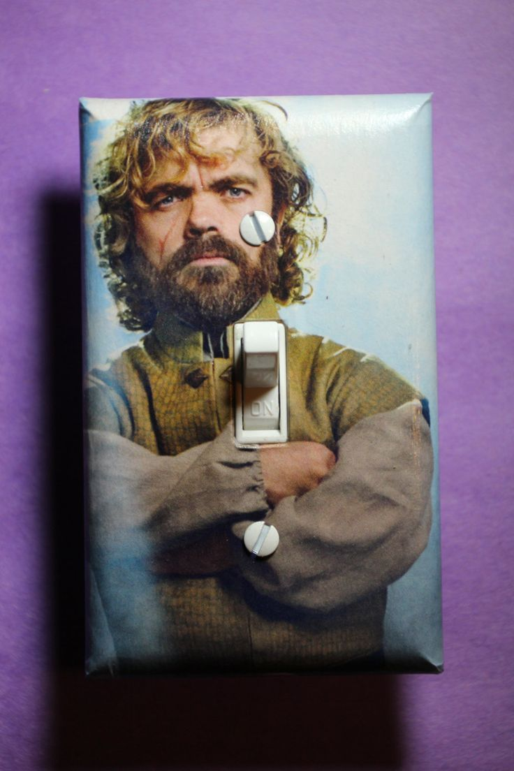 Game of Thrones Tyrion Lannister Peter Dinklage  Light Switch Plate Cover mancave cool comic book home decor TV show by ComicRecycled on Etsy
