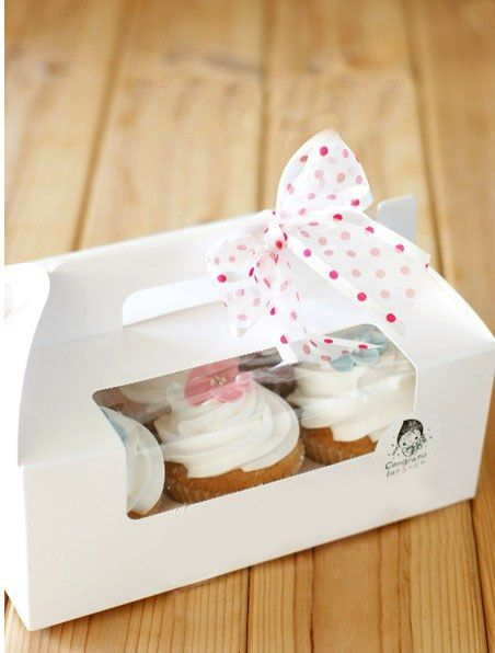 White Cupcake Boxes With Window Portable Cupcake Boxes 6 Cupcakes