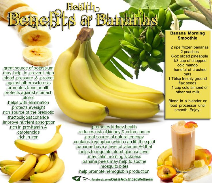 Health Benefits of Bananas, re-pinned no link