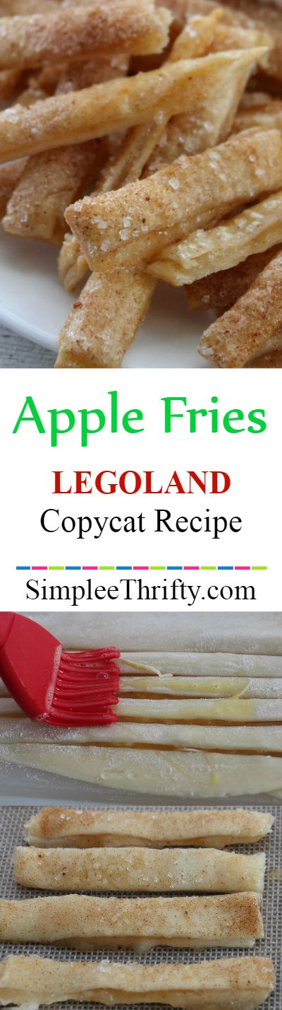 Copycat Apple Fries inspired by Legoland Apple Fries. They are delicious! Add caramel and whip cream for a topping, they both taste amazing.