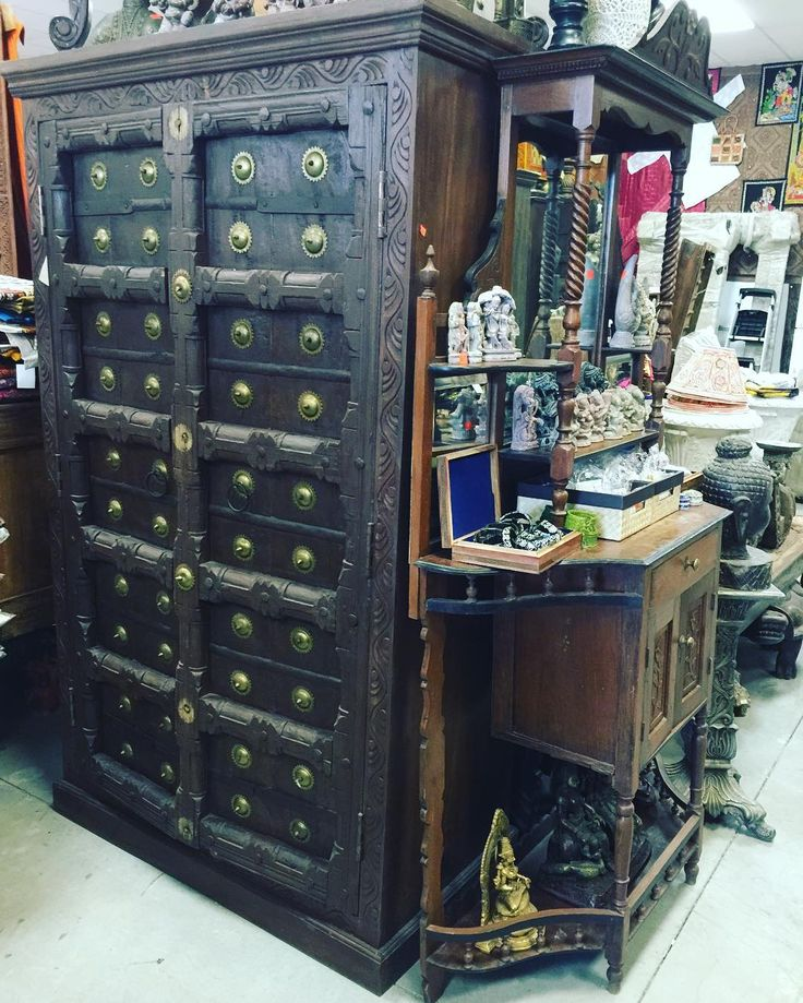 #armoire #cabinet #antiquefurniture #wardrobe http://www.houzz.com/photos/59144664/Consigned-Antique-Teak-Britsh-Colonial-Brass-Armoire-Cabinet-asian-armoires-and-wardrobes