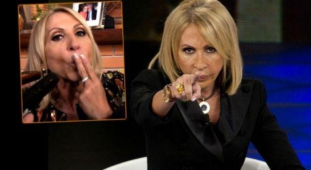VIDEO: Laura Bozzo manda besos a sus enemigos