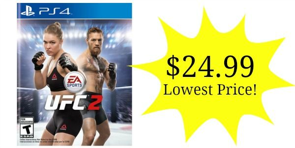 UFC 2 on PS4 or Xbox One Only $24.99 - Lowest Price!