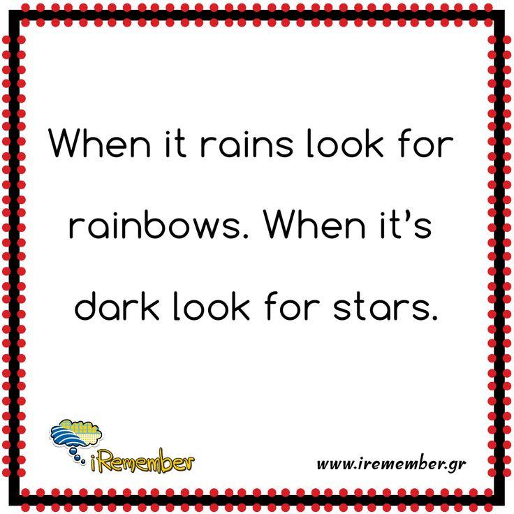#rain #rainbow #stars
