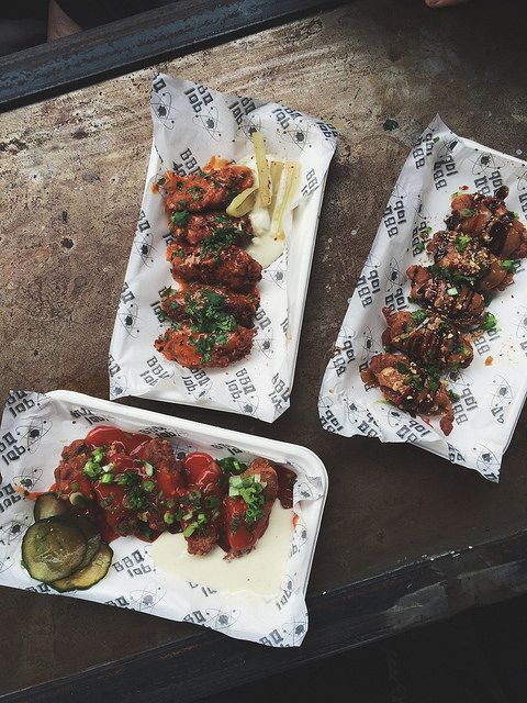 Dinerama Shoreditch: Chicken Wings From BBQ Lab At Dinerama, Shoreditch. Miso