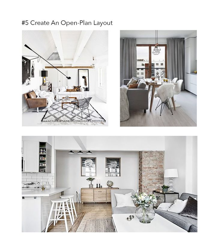 Open Plan Layout works in making a small space look bigger