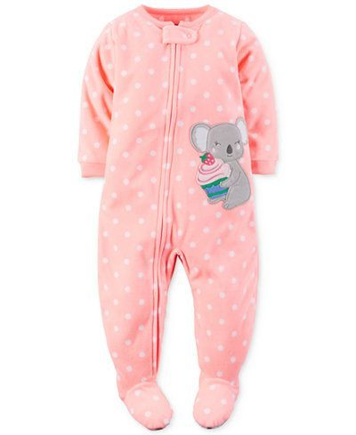 nice Carter's Baby Girls' 1-Pc. Dot-Print Koala Footed Pajamas - Pajamas - Kids & Baby - Macy's