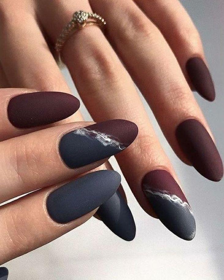 39 Trendy Fall Nails Art Designs Ideas To Look Autumnal And Charming Autumn Nail Art Ideas Fall Nail Art Fa Burgundy Nails Womens Nails Grey Acrylic Nails