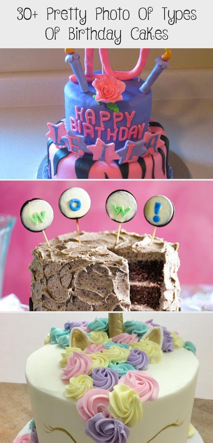 30+ Pretty Photo Of Types Of Birthday Cakes in 2020