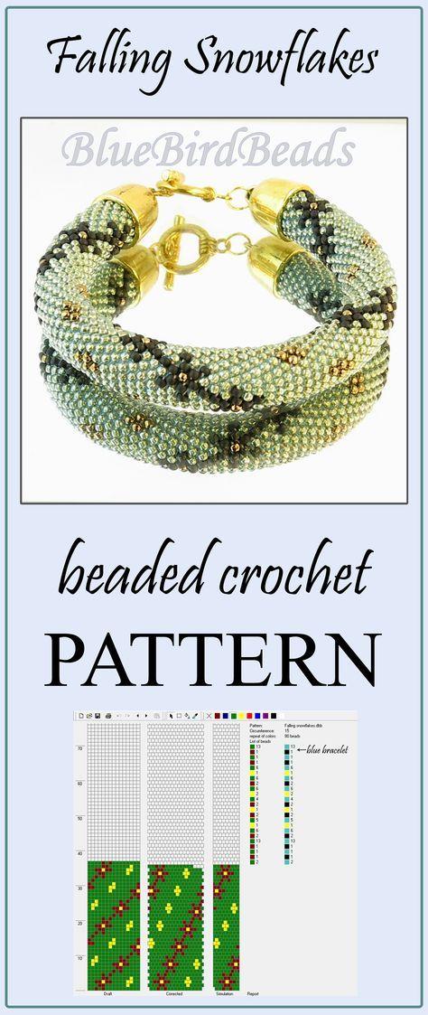 Cute FREE beaded crochet rope pattern for bracelet or necklace. #beading #beadedcrochet #pattern #beadingpattern #braceletpattern #beadedcrochetpattern #beadcrochetpattern #crochetropes #DIYjewelry #DIYbracelet #ukosnik #sznurkoralikowy #freepattern