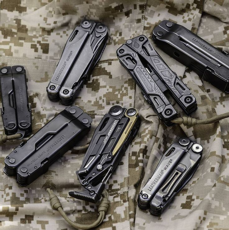 A great looking line-up in a classy black finish. #leatherman  Photo: Drazen Babich by leathermanusa