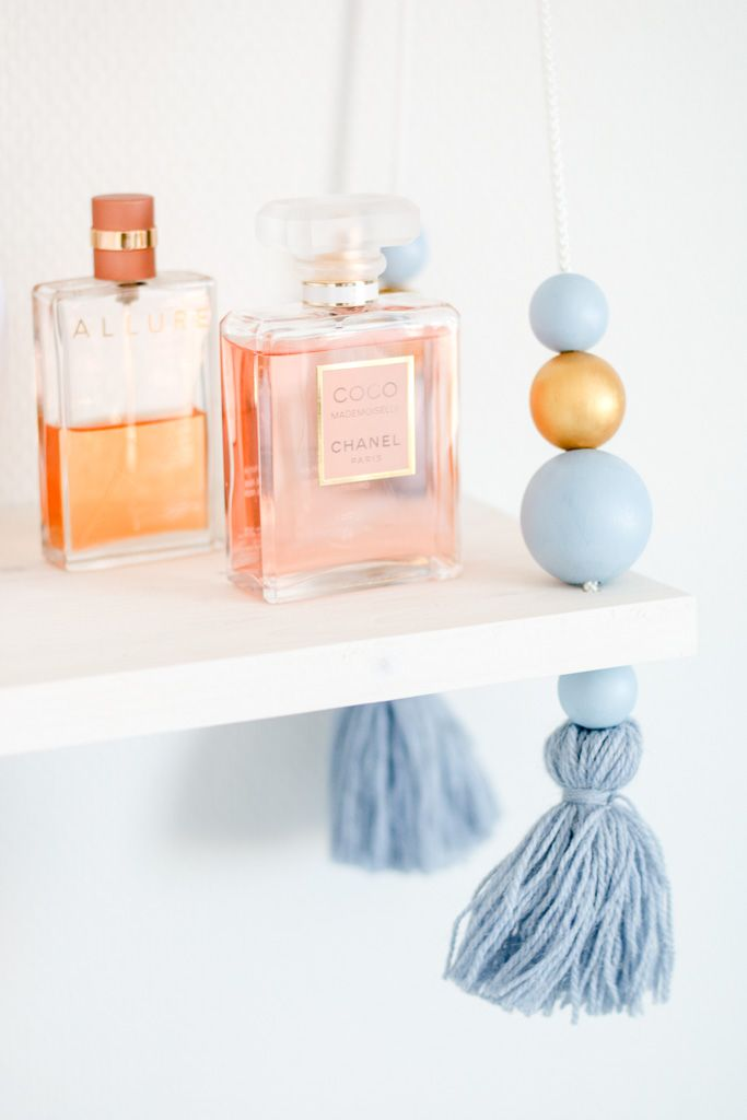 The prettiest wall shelf now on the blog   Interior / home / home decor / sisustus / inredning / home inspo / inspiration / perfumes / chanel