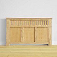 Wilton Radiator Cabinet - Oak Veneer - (W)150 x (H)90 x (D)20cm