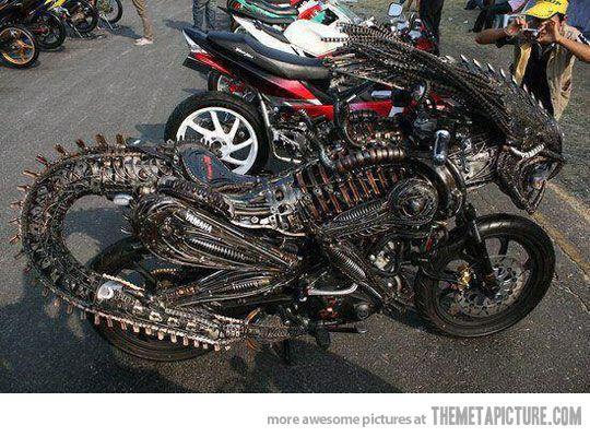 Alien bike...BADASS: Predalien Motorcycles, Aliens Bike, Awesome, Cool Bike, Weird Motorcycles, Motorcycles Wheels, Custom Bike, Riding Motorcycles, Aliens Motorcycles