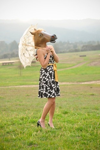 Amazon User Images for this horse mask.