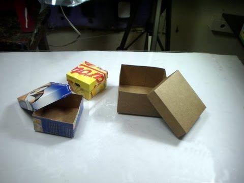Artesanato:Como fazer caixas de papelão fino - YouTube