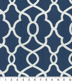 Kelly Ripa Home Upholstery Fabric   Clearly Cool Indigo