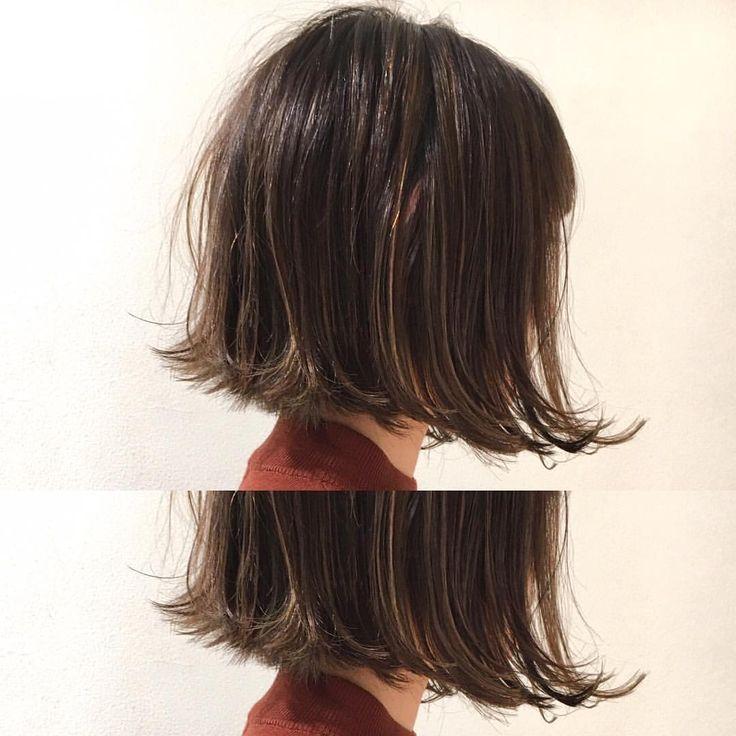 いいね!119件、コメント9件 ― Satoshi Matsumotoさん(@mtmtsts)のInstagramアカウント: 「 あご下ラインの前下がりボブ  たっぷりハイライト  ハイライトとのコントラストが ボブにヌケ感を出します✨✨ カット✂︎7200 ハイライト8200〜  #hair #bob #shima…」