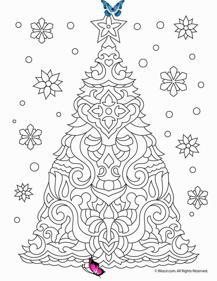 Pin Pa Christmas Tree Coloring