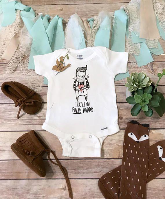 bf8dbaa3 Beard Onesie®, Hipster Baby Clothes, Fuzzy Daddy Onesie, I Love My Bearded Daddy  Onesie, Funny Baby, Dad Onesie, Baby Boy Clothes,Beard Gift