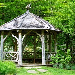Buck Garden Gazebo custom made by Natural Edge. -Garden Gazebo Ideas-