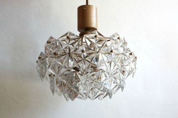 Vintage Cristal Lead Glass Chandelier  Vintage Ceiling by OnceInUA