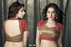 Image result for blouse neck designs for net sarees
