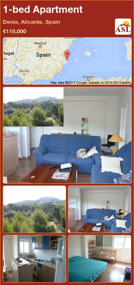 1-bed Apartment in Denia, Alicante, Spain ►€115,000 #PropertyForSaleInSpain