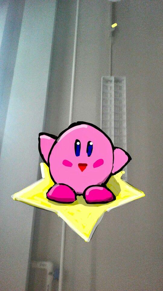 Snapchat art. Kirby