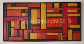 The Paperer Pulp to Sculpt Collection Colours: Red, Orange, Yellow & Black Artwork Size: 76cm x 40cm x 3.5cm
