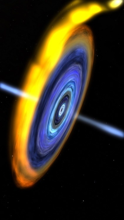 artistic rendition of a black hole