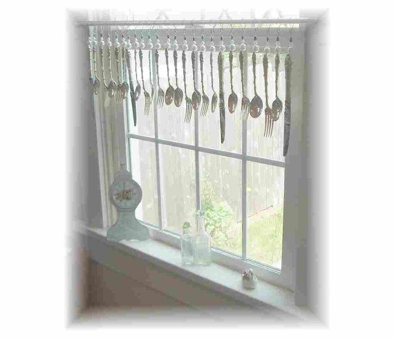 Reserved For Lars Shabby Cottage Vintage Silverplate Kitchen Window Treatment Valance Window