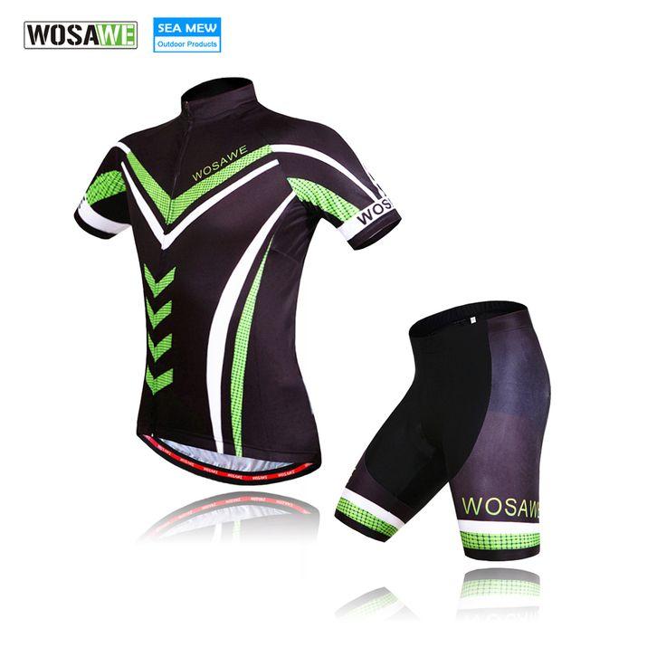 WOSAWE Bike Bicycle Cycling Clothing Green cycling jersey 2017 Gel Pad Cycling Shorts MTB ropa ciclismo ropa de ciclismo #Affiliate