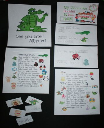see you later alligator after while crocodile good bye poem, going home transition ideas, going home transition activities, going home trans...