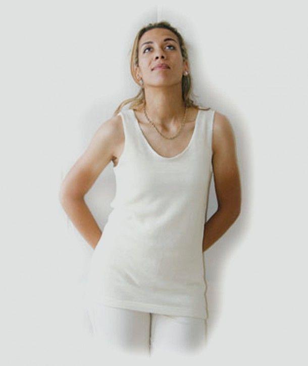 plus de photos f87aa a684e SOUS VETEMENT FEMME SANS MANCHE laine merinos | Dressing ...