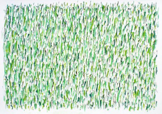 Herman de Vries untitled (green: 19x), 2012