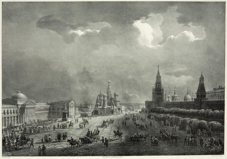 475766 Вид на Красную площадь Auguste-Jean-Baptiste-Antoine Cadolle. литография – Laurent Deroy 1830-е.jpg