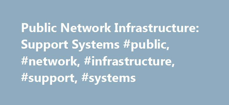 Public Network Infrastructure: Support Systems #public, #network, #infrastructure, #support, #systems http://baltimore.remmont.com/public-network-infrastructure-support-systems-public-network-infrastructure-support-systems/  # Public Network Infrastructure: Support Systems Summary Client issues relevant to the core topic area of support systems (business support systems and operations support systems) will impact service providers' efforts in deploying and maintaining networks and customer…